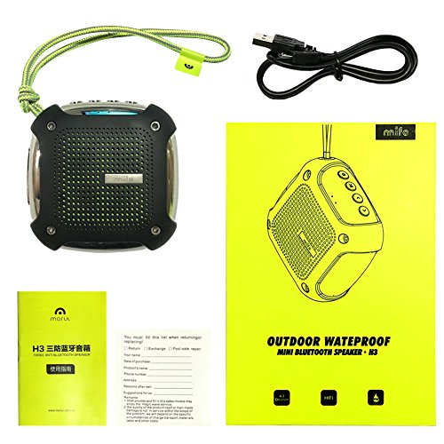 Mifo H3 Portable Wireless Waterproof Bluetooth Speaker with MP3 Player Support TF/SD Card