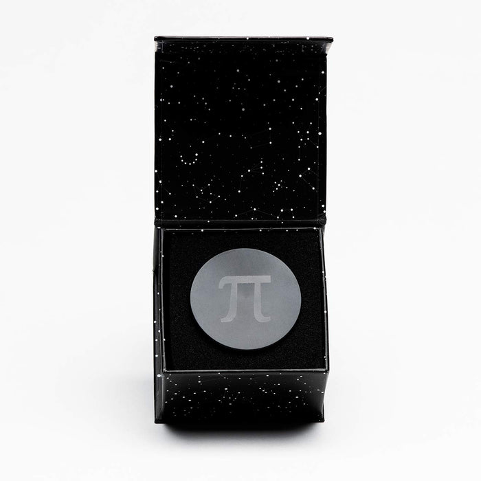 Herb Grinder, Pi Grinder Machined Aluminum Magnetic 4-Piece Grinder and Scraper with Constellation Gift Box - Astral Black