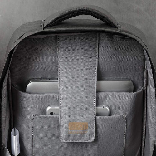 eloop City B1 Waterproof 17-inch Laptop Backpack, Padded Rigid Laptop Compartment with iPad/Tablet/eReader Pocket in Charcoal