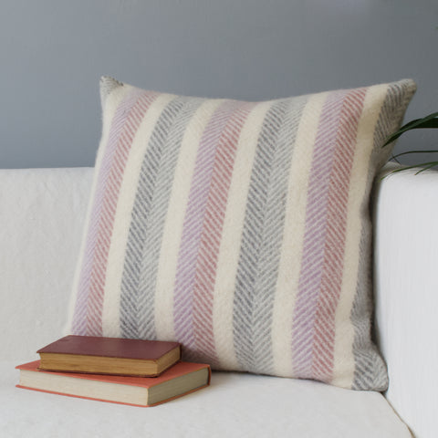 tweedmill striped wool cushion