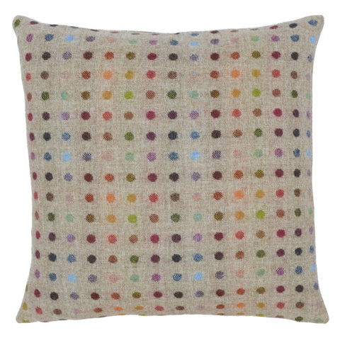 beige wool cushion