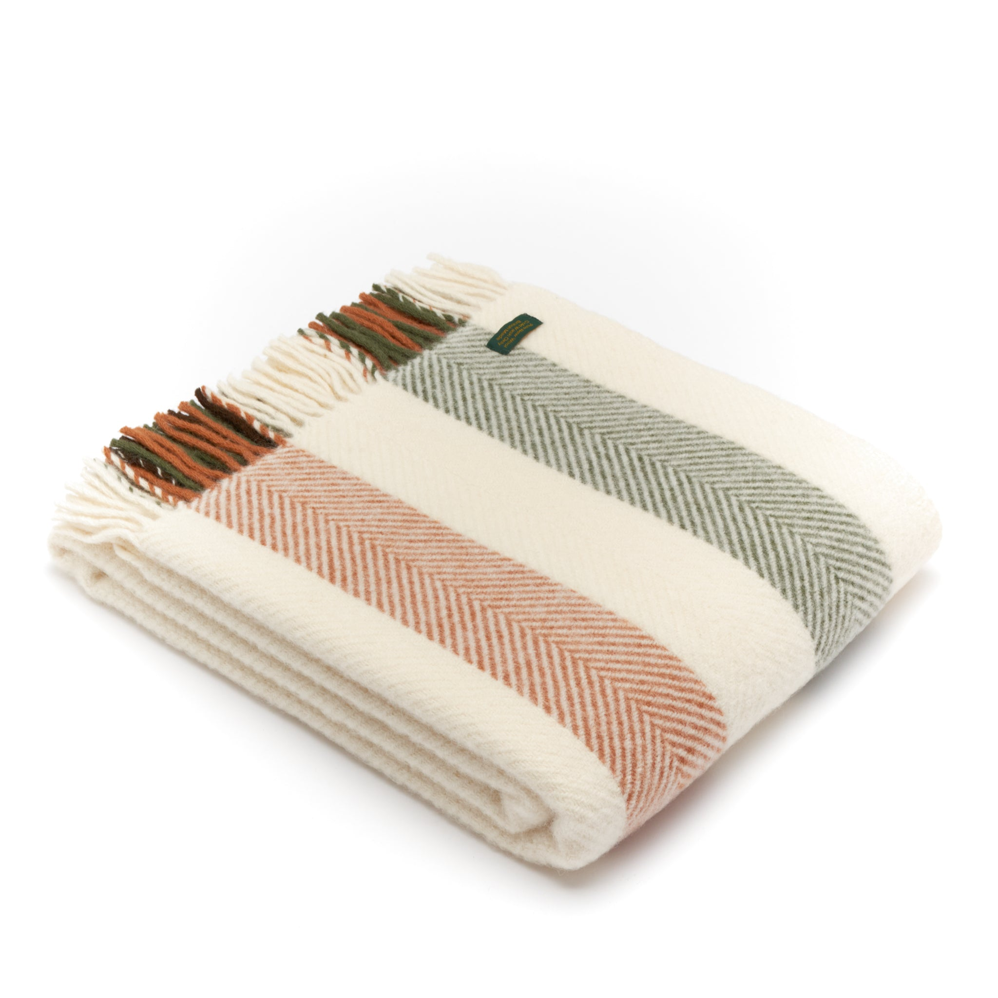 Tweedmill Woodland Stripe Wool Blanket Throw