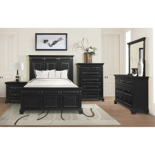 Calloway-Black 6 Piece Queen Bedroom Set