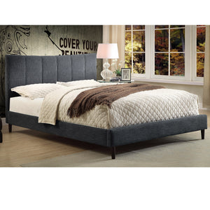 "Rimo 54"" Full size Bed in Grey"