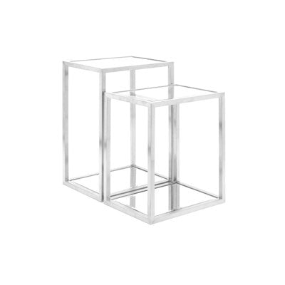 MULTI-LEVEL SILVER END TABLE