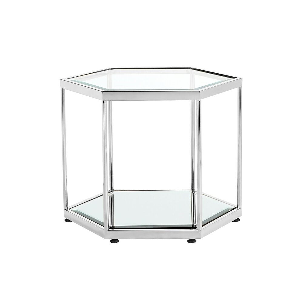 SWANSON END TABLE - STAINLESS STEEL