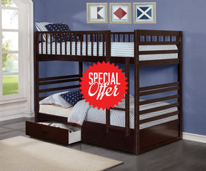 110 Bunk Bed - Twin/twin With Storage Espresso