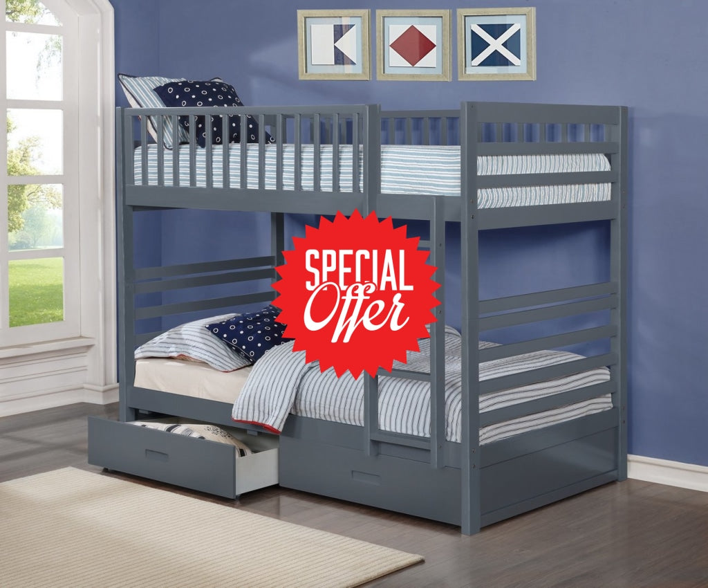 9 BUNK BED - Twin/Twin with Storage