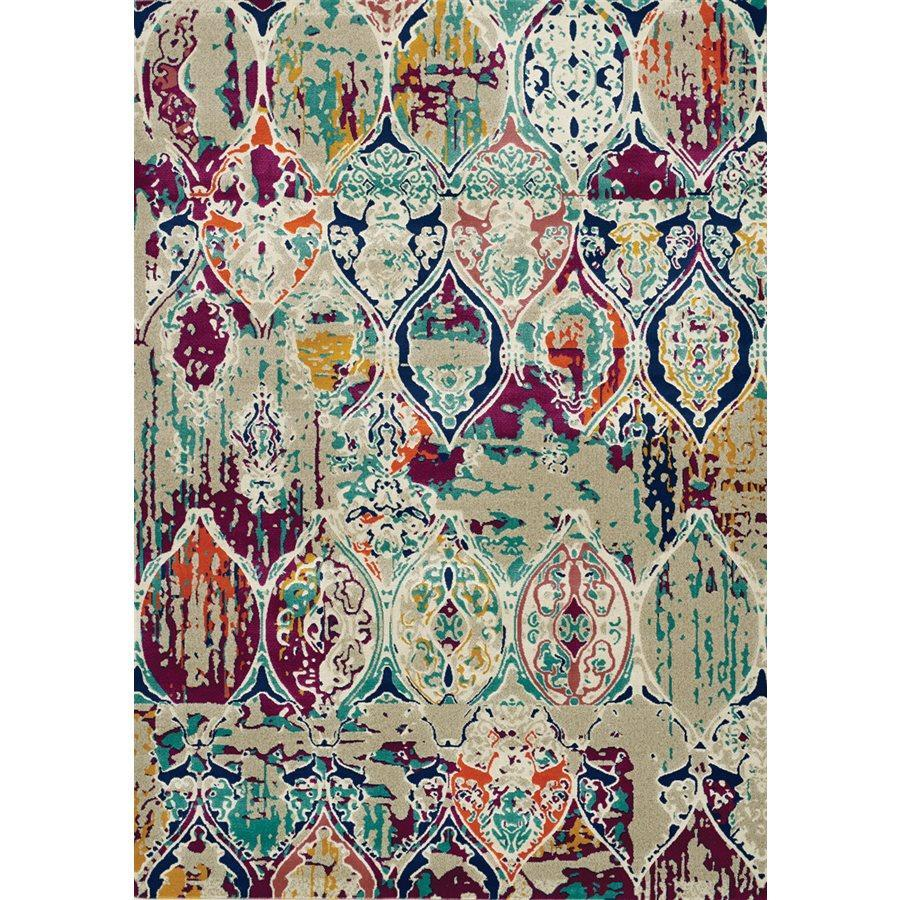 Topaz Colourful Distressed Ornamental Pattern Rug