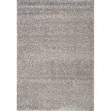 Load image into Gallery viewer, Silver Shaggy Solid Rug
