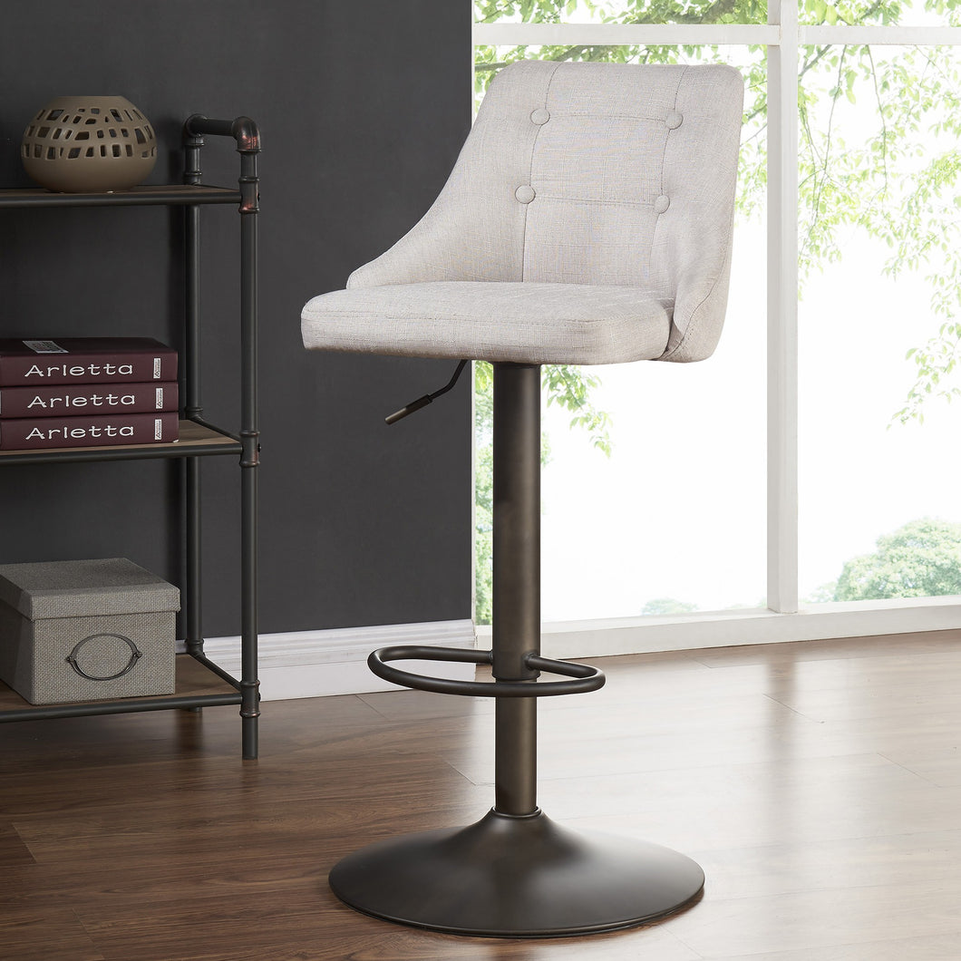 Adyson Gas Lift Stool in Beige