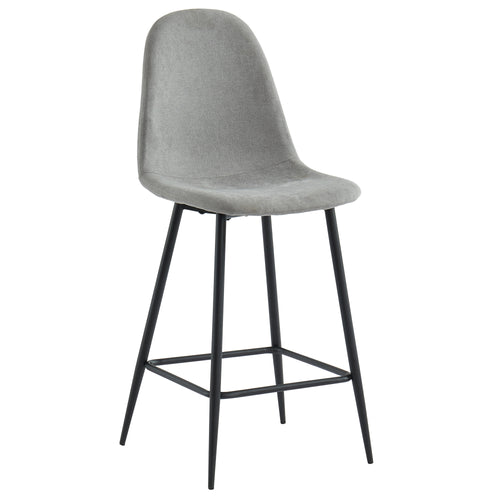 Onio 26'' Counter Stool in Grey/Black Legs