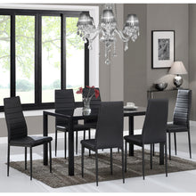 Load image into Gallery viewer, CONTRA-7PC DINING SET-BLACK