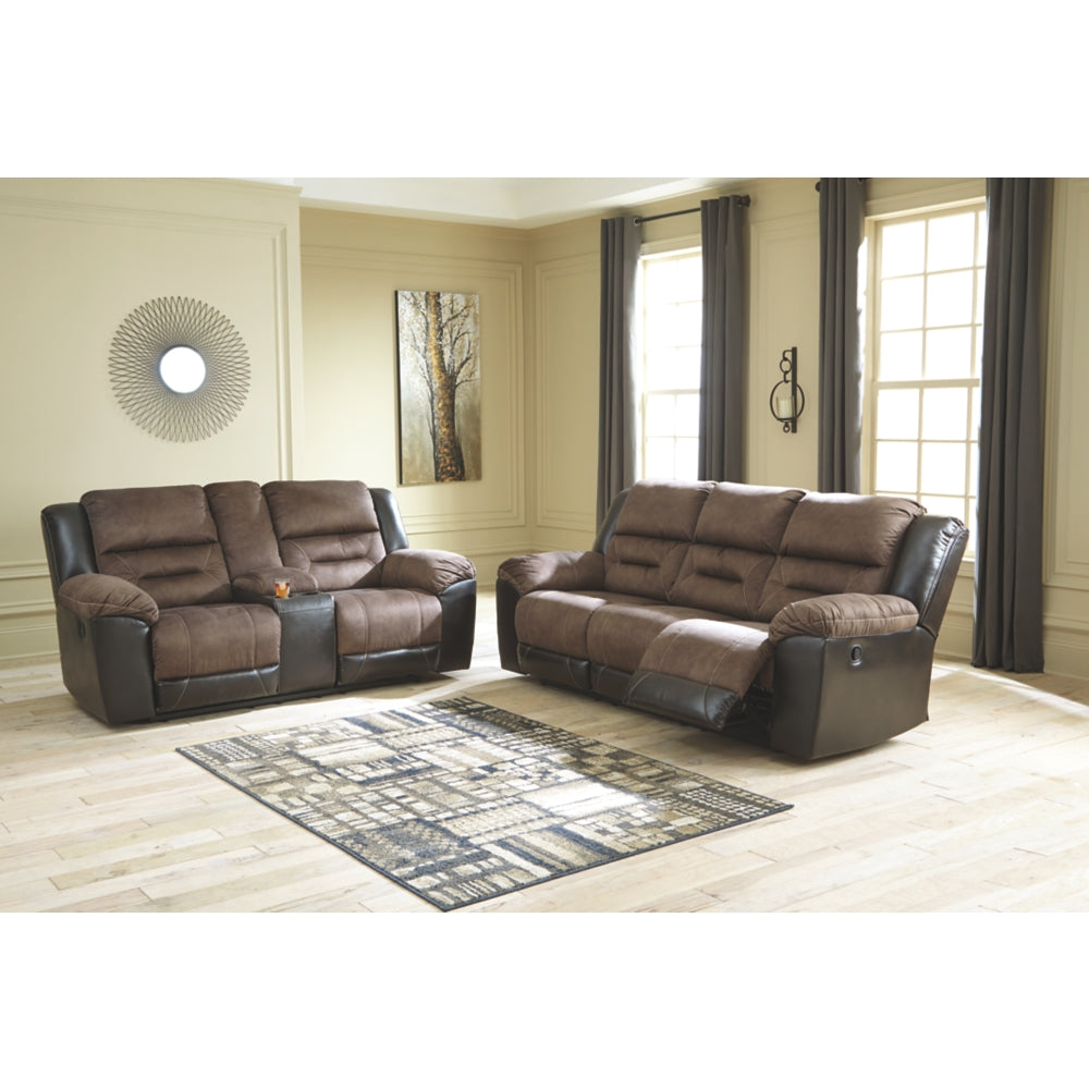 Earhart Reclining Sofa & DBL Rec Loveseat w/Console
