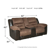 Load image into Gallery viewer, Earhart Reclining Sofa & DBL Rec Loveseat w/Console