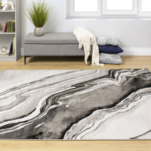 Load image into Gallery viewer, Platinum Natural Wood Pattern Rug