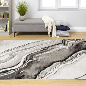 Platinum Natural Wood Pattern Rug
