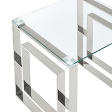 Load image into Gallery viewer, Eros Console Table in Silver