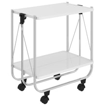 Load image into Gallery viewer, Sumi 2-Tier Bar Cart in White/Chrome