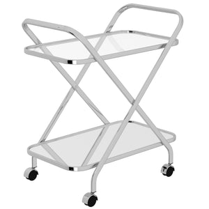 ORISO-2-TIER BAR CART-CHROME