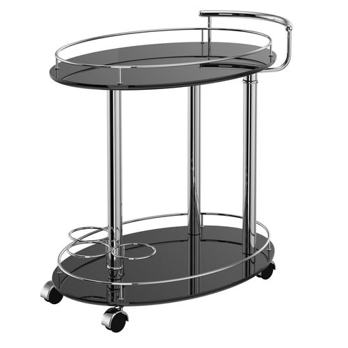 INKA-2-TIER BAR CART-BLACK