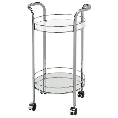 NEEMA-2-TIER BAR CART-CHROME