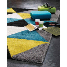 Load image into Gallery viewer, Maroq Colorful Triangles Soft Touch Rug