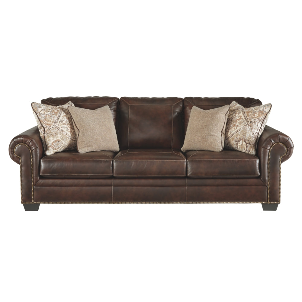 Roleson Leather Sofa Bed