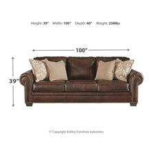 Load image into Gallery viewer, Roleson Leather Sofa Bed