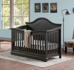 Brooklyn 4-in-1 Crib - Charcoal Grey