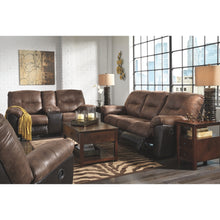 Load image into Gallery viewer, Follett Reclining Sofa & DBL Rec Loveseat w/Console