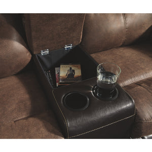 Follett DBL Rec Loveseat w/Console