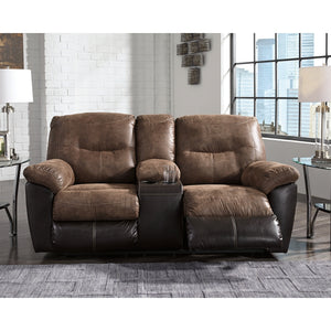 Follett Reclining Sofa & DBL Rec Loveseat w/Console