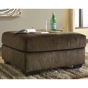 Accrington Oversized Accent Ottoman - Earth