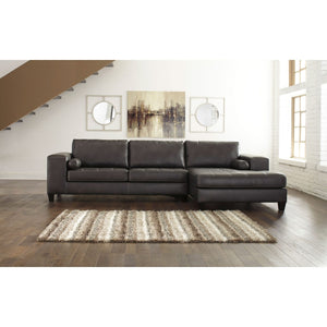 Nokomis Charcoal RAF Chaise Sectional
