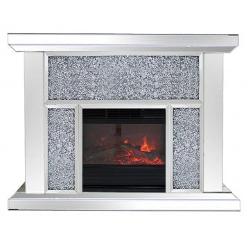 Hollywood Mirrored Fireplace