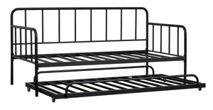 Trentlore Twin Metal Day Bed w/Platform and Trundle