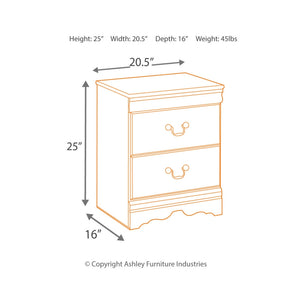 Huey Vineyard Two Drawer Night Stand