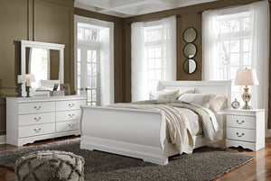 Anarasia Queen Sleigh Bed 6Pc Set