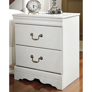 Anarasia Two Drawer Night Stand