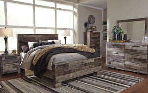 Derekson King Panel Bed 6 Pc Set
