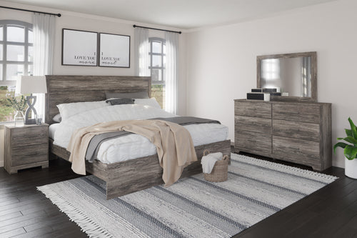 Ralinksi 6Pc King Panel Bedroom Set - Gray