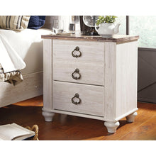 Load image into Gallery viewer, Willowton Two Drawer Night Stand