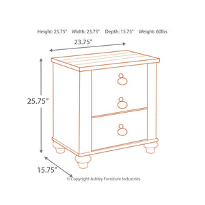 Willowton Two Drawer Night Stand