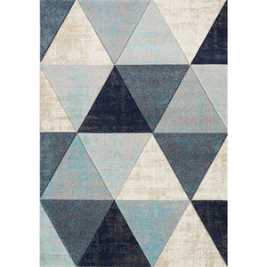 Freemont Distressed Triangles Rug