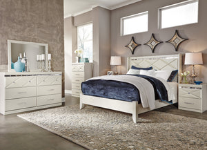 Dreamur Queen Panel Bed 6 Pc Set