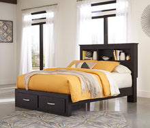 Load image into Gallery viewer, Reylow Bookcase Headboard and Storage Footboard Bed
