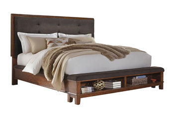 Ralene Panel Bed with Storage Footboard
