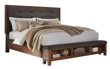 Load image into Gallery viewer, Ralene Panel Bed with Storage Footboard