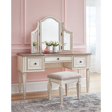 Load image into Gallery viewer, Realyn Vanity/Mirror/Stool (3/CN)